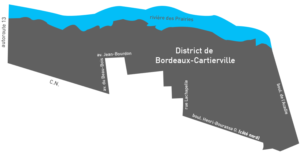 Carte de Bordeaux-Cartierville