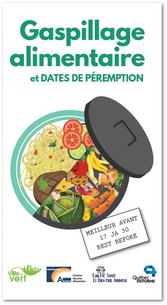 Dépliant sur la réduction de gaspillage alimentaire et les dates de péremption