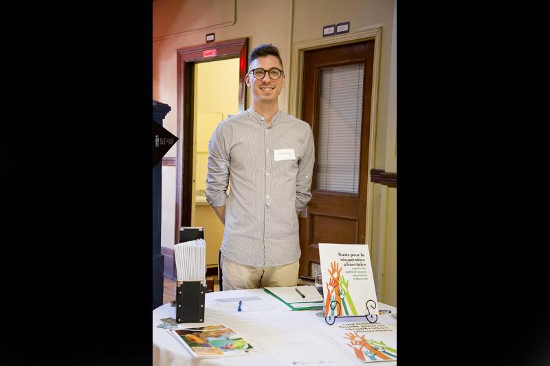 Maxime Lauzon, bénévole pour l'événement