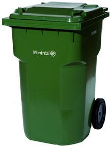 bac de recyclage roulant