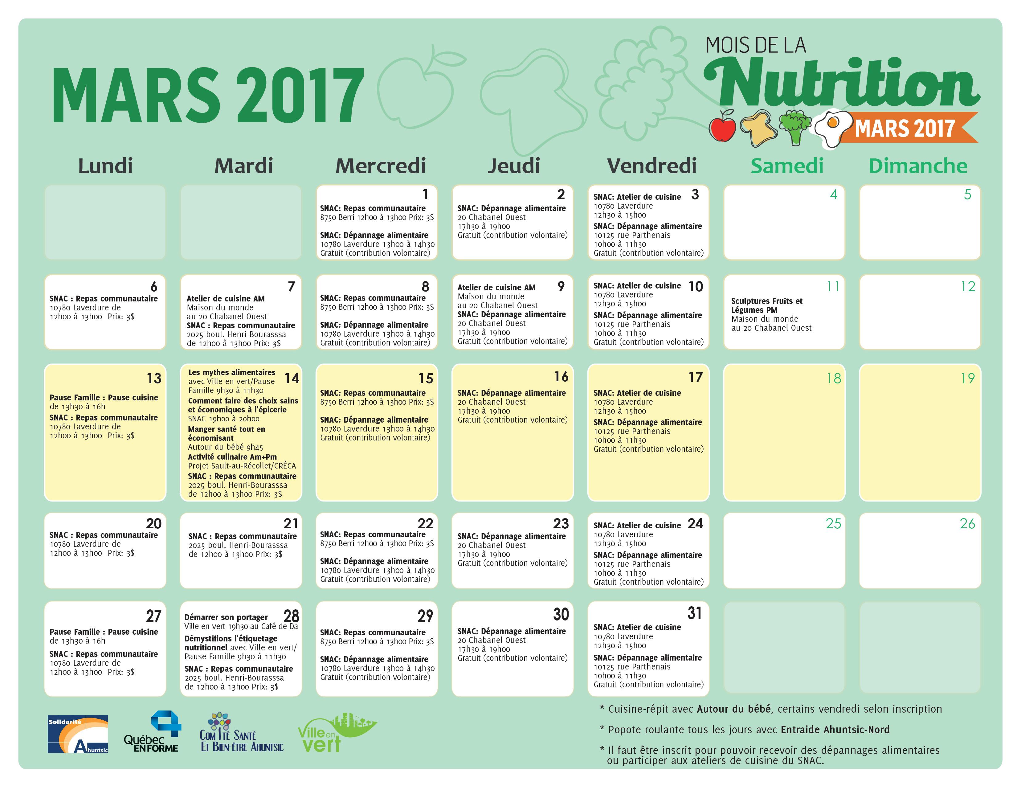 Mars Le Mois De La Nutrition