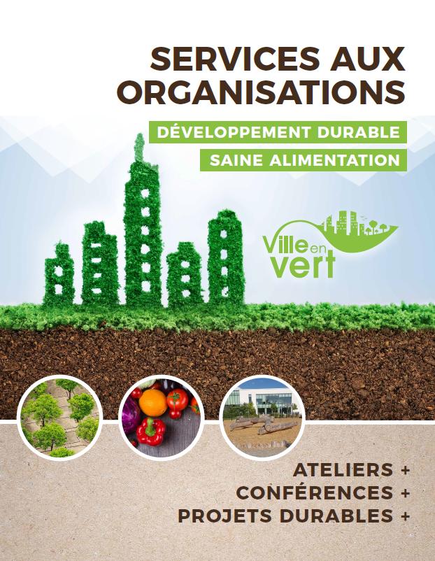 Catalogue des ateliers et conférences corporatifs de Ville en vert