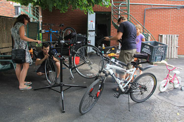 Kiosque répartion de vélo