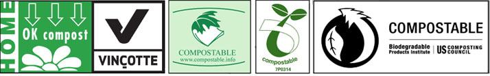 Logos sacs compostables