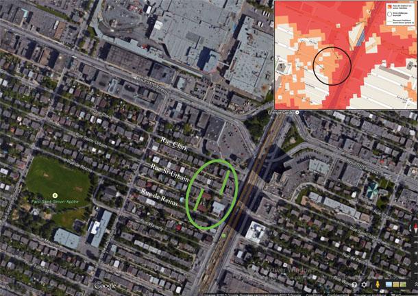 Plan de localisation des ruelles