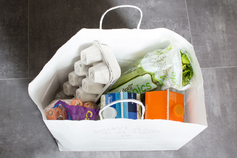 Sac d'épicerie, grocery bag, groceries, food waste, gaspillage alimentaire